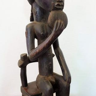 Figurine(s) - Hardwood - Baoulé - Côte d'Ivoire