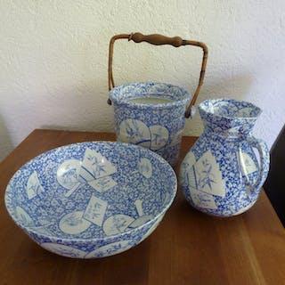 Petrus Regout, Maastricht - Juego de lámparas con cubo - Delft azul - Cerámica