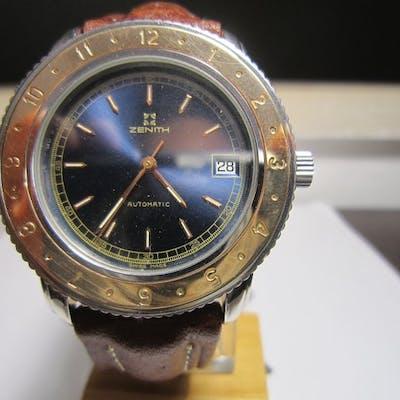 Zenith - Diver Automatic – Ghiera in Oro Rosa14 kt...
