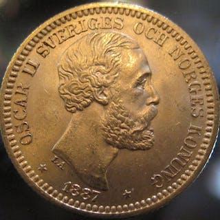 Sweden - Oscar II, 20 Kronor1887 EB (rare) - Gold