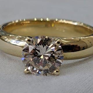 14 kt. Yellow gold - Ring - 1.24 ct Diamond - Diamonds