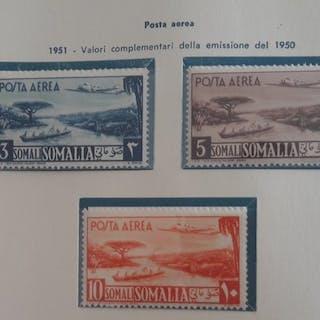 Somalia 1950/1951 - AFIS - selezione di francobolli in...