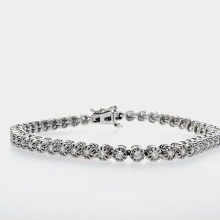 White gold - Bracelet Diamond - D/VS1