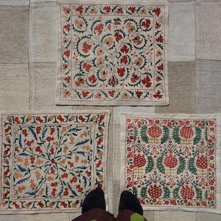 3 x Suzani | Uzbekistan | Dr. ilhom Davletov Projekt - Kissen - 50 cm - 50 cm