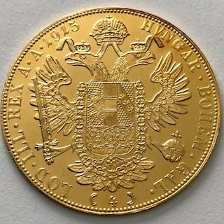 Austria - 4 Dukat 1915 - Franz Joseph I. - Oro