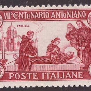Italien Königreich 1931 - 75 cents St. Francis perforated 12 - Sassone N. 299