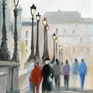 Nicolas Maillet - Paris, les promeneurs du Pont Neuf.