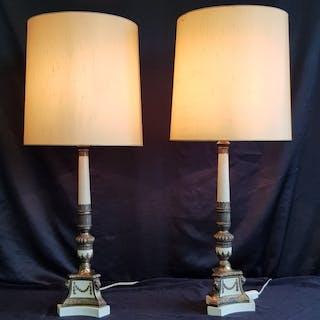 Zwei Tischlampen mit Löwenköpfen. - Louis-XIV-Stil