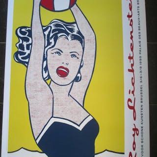 Roy Lichtenstein - Girl with ball - 1995