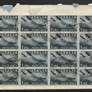 Italien Republik 1946 - Lot of 6 envelopes franked with...