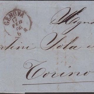 Italien Königreich 1866 - 20 cents on 15 1st type used on...