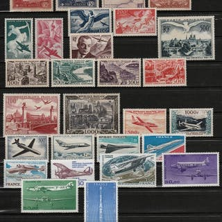 Francia 1930/1979 - Airmail collection - Yvert Entre n°5 et 63