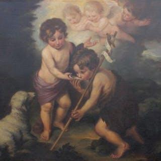 Anonimo - San giovannino col Bambino Gesù.