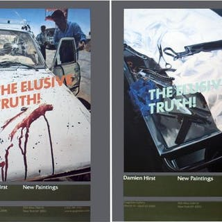 Damein Hirst- 2 Assorted Damien Hirst Elusive Truth Posters - 2006 - 2000s