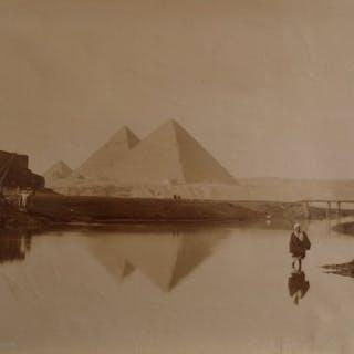 C et G. Zangaki (XIX) - Vue des trois pyramides, Egypte