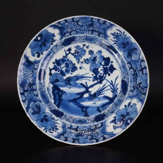 very nice antique Chinese bowl with pheasant and rock (1)...