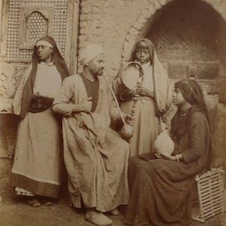 C et G. Zangaki (XIX) - Famille arabe, Egypte