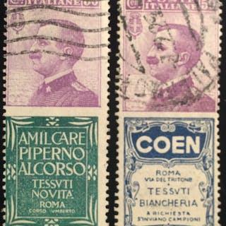Italien Königreich 1924 - Advertising stamps 50 cents...