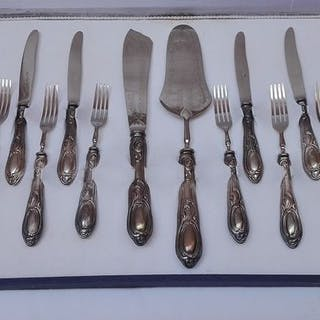 Cutlery from Dolce (14) - .800 silver - Italy - Second half 20th century