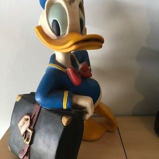 Disney - Grote Donald Duck (52 cm.) leunend op reistas - na - (1980)