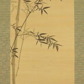 Hanging scroll - Silk - Japan - Late Edo period