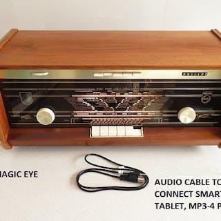 Philips - B5X23A Bi-Ampli FM radio in goede staat - Röhrenradio