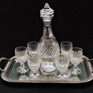 Waterford - Waterford Crystal Decanter und 6 Weingläser (7) - Glas