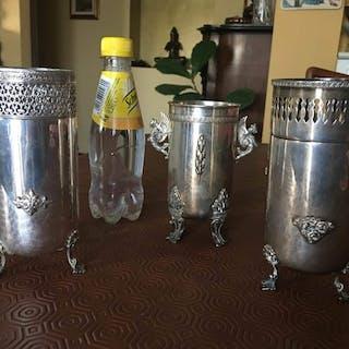 Vase - .800 silver - Italy - Second half 20th century