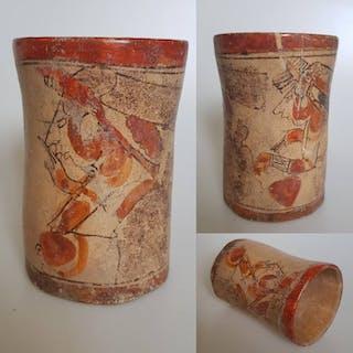 Mayan Cylinder Vase