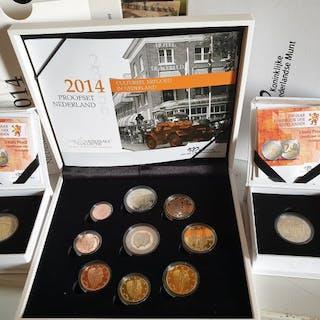Die Niederlande - Euro Proofset 2014 inclusief 2 euro...