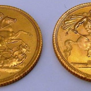 United Kingdom - Sovereign 1974 Elizabeth II (2 monete) - Gold
