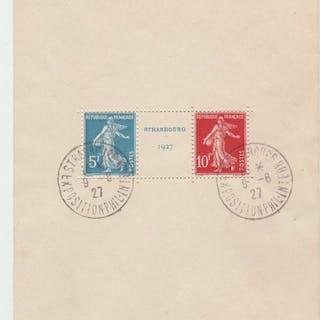 Frankreich 1927 - block of Strasbourg stamps - Yvert N°2