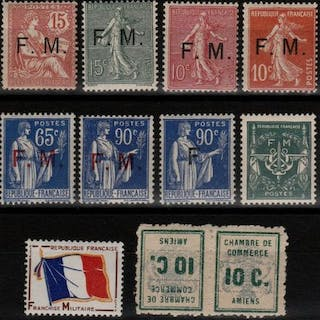 Francia 1901/1964 - Military postage stamps