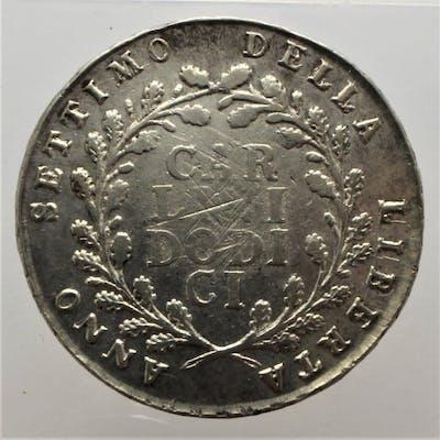 Repubblica Napoletana - 12 Carlini 1799  - Argento