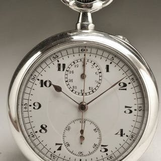 Chronographe Heuer - Argent - Homme - 1910