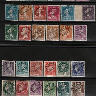 Frankreich 1922/1960 - Collection of postmarked stamps on plates