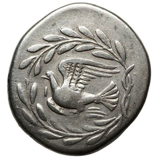 Greece (ancient) - AR Stater, Sikyon (~335-330 BCE) Chimaira, Taube