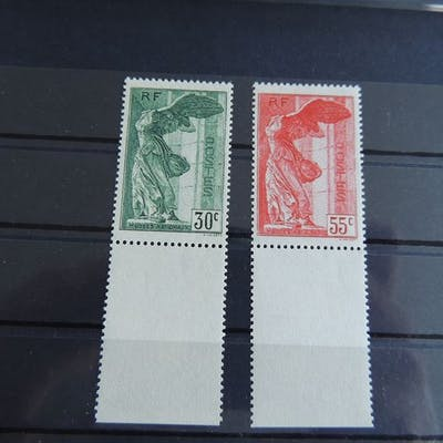 Frankreich 1937 - Pair of Winged Victory of Samothrace - Yvert 354/55/ MNH
