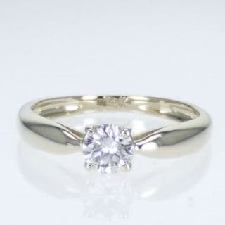14 kt. Gold - Ring - Clarity enhanced 0.51 ct Diamond