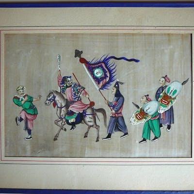Peinture  - Papier de riz, Papier Pith - Chine - 1850 - 1900