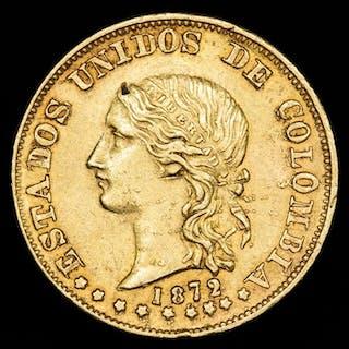 Colombia - 20 Pesos 1872 - Estados Unidos de Colombia, Popayan - Gold