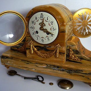 Mantel clock - French Empire - Imposing Fireplace...