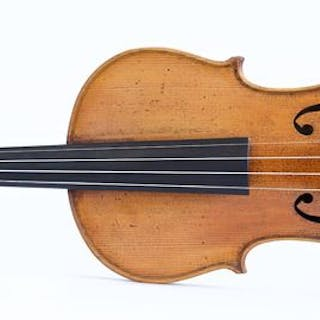 old violin labeled Leandro Bisiach - 4/4 - Violin - Italy - 1897