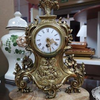 Orologio da camino - Otro - Bronzo dorato - Prima metà del 20° secolo