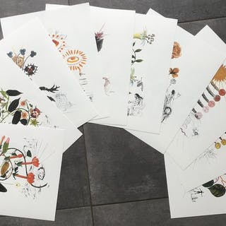 Salvador Dali- Flordali (ensemble de 10 lithographies)