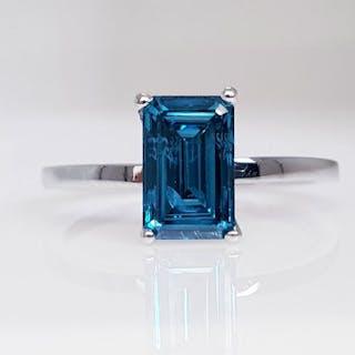 White gold - Ring - Clarity enhanced 1.22 ct Diamond - No Reserve