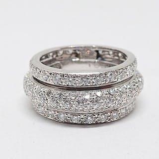 18 kt. White gold - Ring - Diamonds