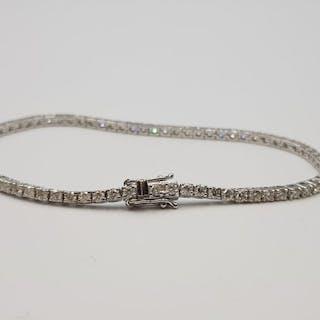 18 kt. White gold - Bracelet - 2.50 ct Diamond