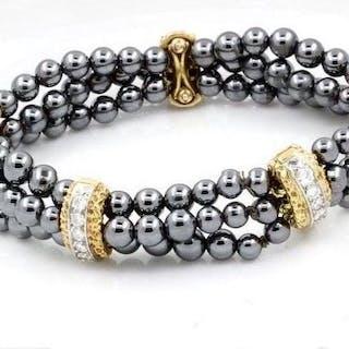 Van Cleef & Arpels - 18 kt Gelbgold, Platin - Armband Gemischt - Diamanten