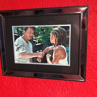 Karate Kid - Photo signed by Jackie Chan, with Coa